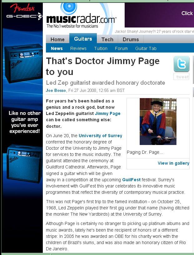 jimmy page news